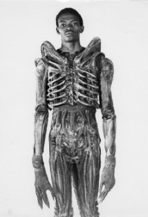 Test Footage of Bolaj Badejo Dressed As the Alien