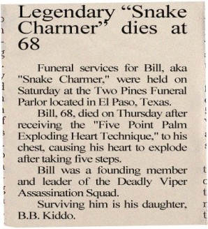 2004 Obituary for Bill