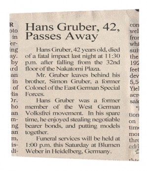 1988 Obituary For Hans Gruber