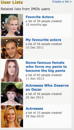 Why IMDB Lists Are Simply the Best, Better Than All the Rest