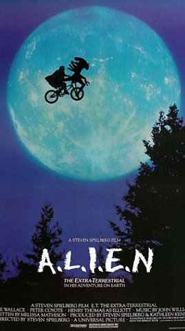 E.T./Alien Movie Poster Mashup